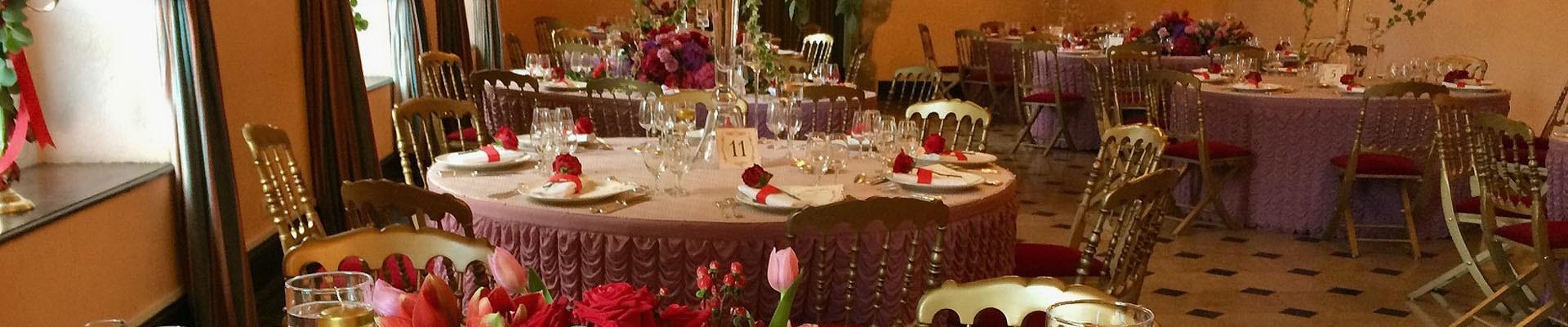 Brudbukett och bröllopsmiddag
